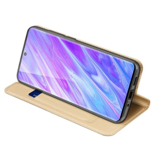 Samsung S20 Plus kunstnahast kaaned DUX DUCIS Skin Pro Bookcase kuldne 4