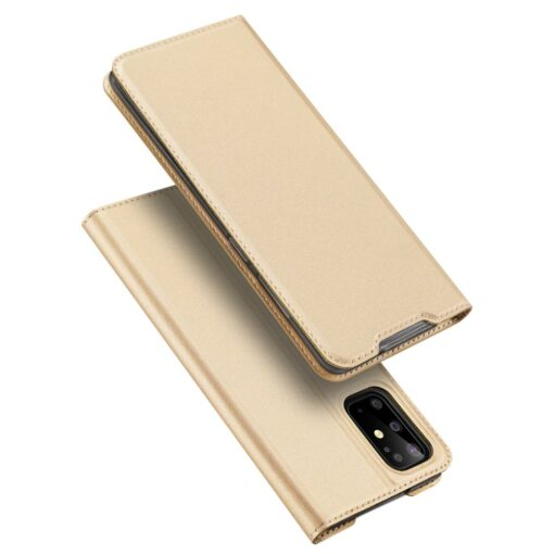 Samsung S20 Plus kunstnahast kaaned DUX DUCIS Skin Pro Bookcase kuldne