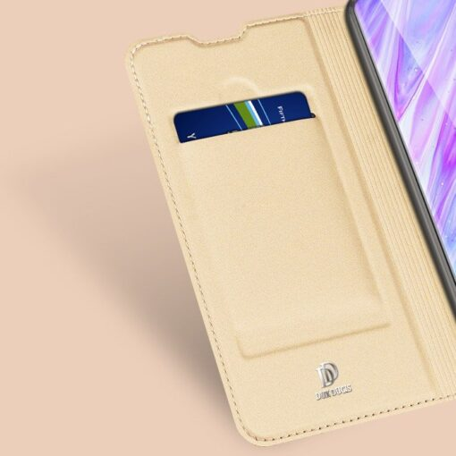 Samsung S20 Plus kunstnahast kaaned DUX DUCIS Skin Pro Bookcase kuldne 9