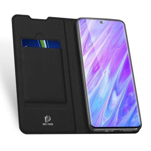 Samsung S20 Plus kunstnahast kaaned DUX DUCIS Skin Pro Bookcase must 2