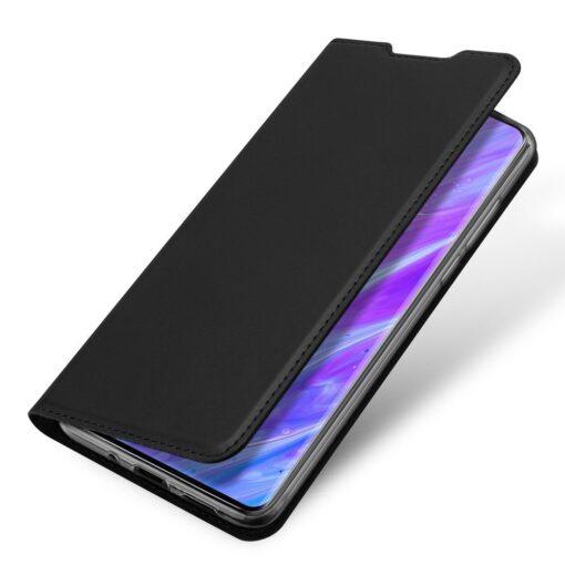 Samsung S20 Plus kunstnahast kaaned DUX DUCIS Skin Pro Bookcase must 3