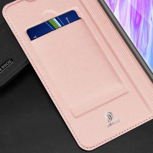 Samsung S20 Plus kunstnahast kaaned DUX DUCIS Skin Pro Bookcase roosa 14