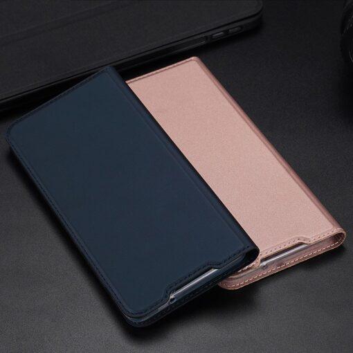 Samsung S20 Plus kunstnahast kaaned DUX DUCIS Skin Pro Bookcase roosa 17