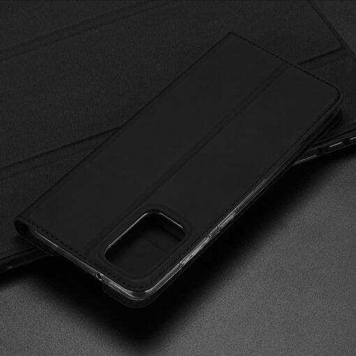Samsung S20 Plus kunstnahast kaaned DUX DUCIS Skin Pro Bookcase roosa 18