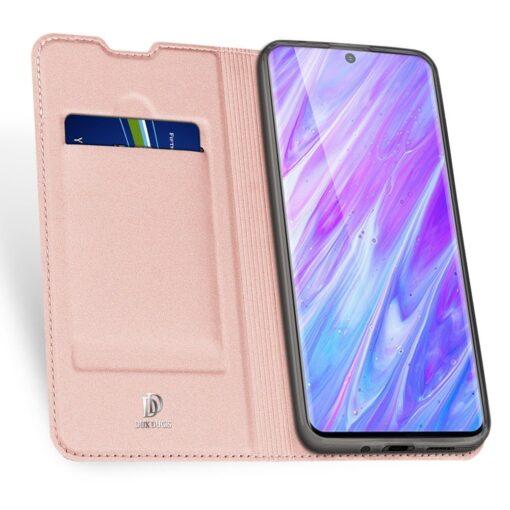 Samsung S20 Plus kunstnahast kaaned DUX DUCIS Skin Pro Bookcase roosa 2