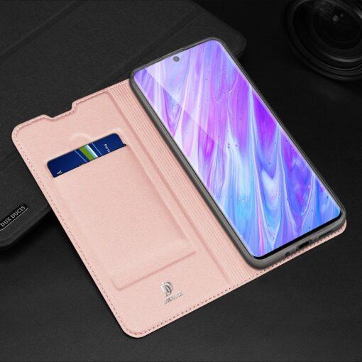Samsung S20 Plus kunstnahast kaaned DUX DUCIS Skin Pro Bookcase roosa 20