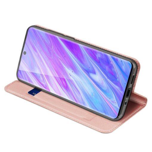 Samsung S20 Plus kunstnahast kaaned DUX DUCIS Skin Pro Bookcase roosa 3