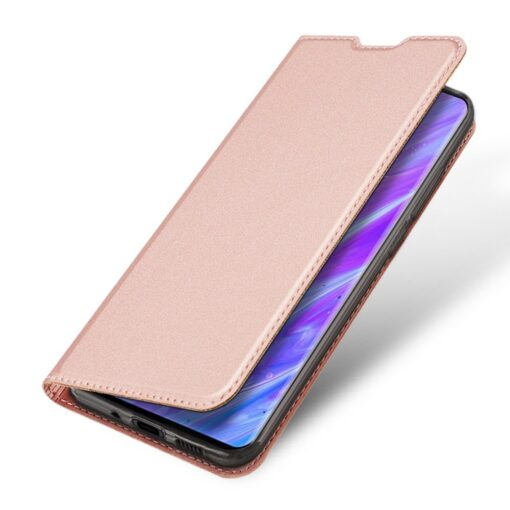 Samsung S20 Plus kunstnahast kaaned DUX DUCIS Skin Pro Bookcase roosa 4