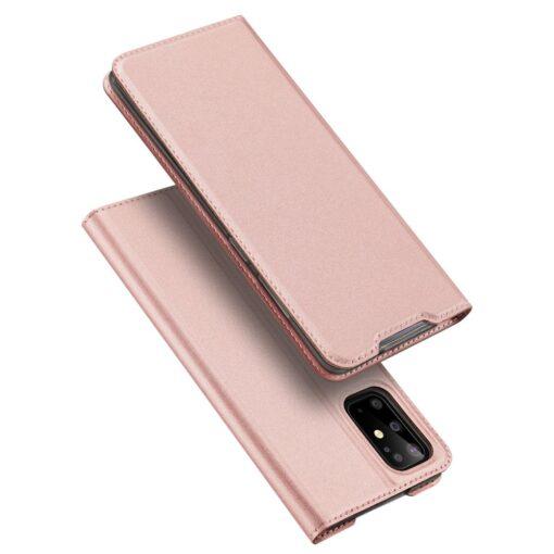 Samsung S20 Plus kunstnahast kaaned DUX DUCIS Skin Pro Bookcase roosa