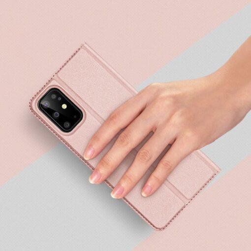 Samsung S20 Plus kunstnahast kaaned DUX DUCIS Skin Pro Bookcase roosa 8
