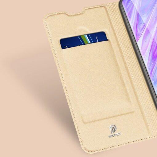 Samsung S20 Plus kunstnahast kaaned DUX DUCIS Skin Pro Bookcase roosa 9
