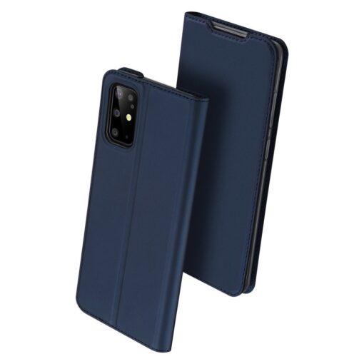 Samsung S20 Plus kunstnahast kaaned DUX DUCIS Skin Pro Bookcase sinine 1