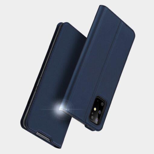 Samsung S20 Plus kunstnahast kaaned DUX DUCIS Skin Pro Bookcase sinine 10