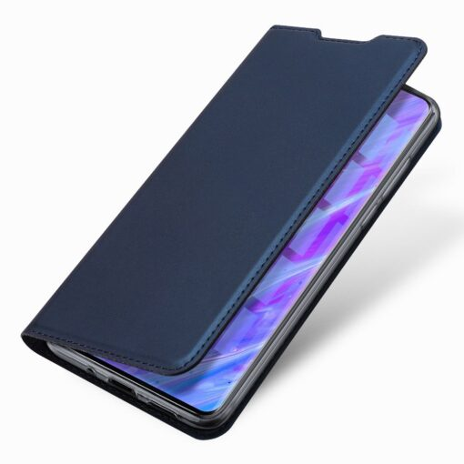 Samsung S20 Plus kunstnahast kaaned DUX DUCIS Skin Pro Bookcase sinine 13