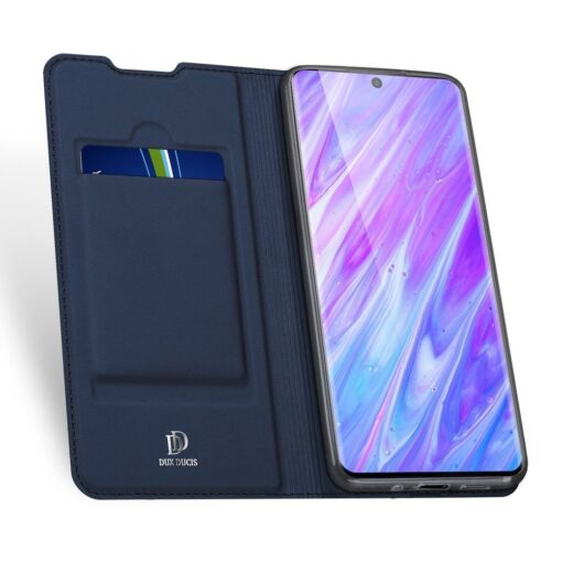 Samsung S20 Plus kunstnahast kaaned DUX DUCIS Skin Pro Bookcase sinine 2