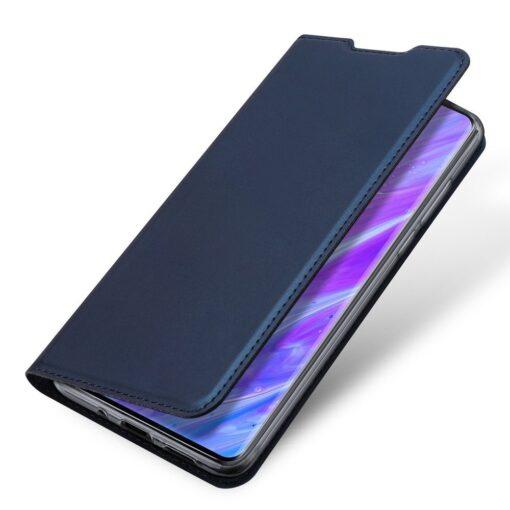 Samsung S20 Plus kunstnahast kaaned DUX DUCIS Skin Pro Bookcase sinine 3
