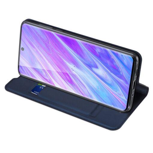 Samsung S20 Plus kunstnahast kaaned DUX DUCIS Skin Pro Bookcase sinine 4
