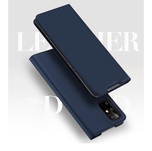 Samsung S20 Plus kunstnahast kaaned DUX DUCIS Skin Pro Bookcase sinine 5