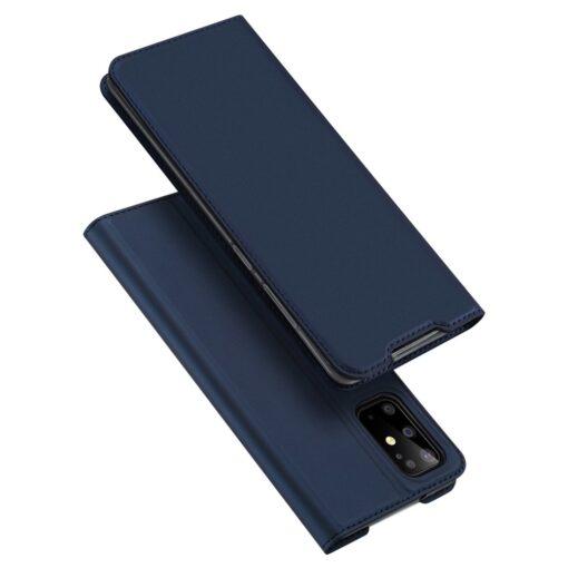 Samsung S20 Plus kunstnahast kaaned DUX DUCIS Skin Pro Bookcase sinine