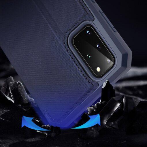 Samsung S20 Plus kunstnahast kaaned kaarditaskuga DUX DUCIS Skin Pro must 10
