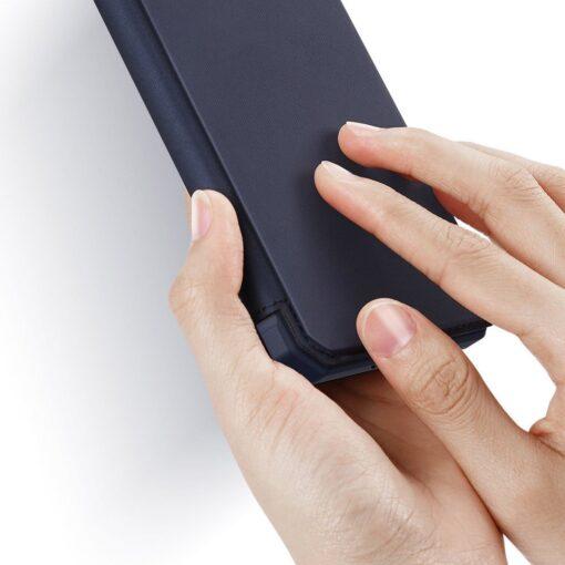 Samsung S20 Plus kunstnahast kaaned kaarditaskuga DUX DUCIS Skin Pro must 11