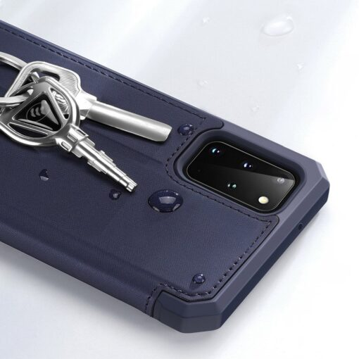 Samsung S20 Plus kunstnahast kaaned kaarditaskuga DUX DUCIS Skin Pro must 14