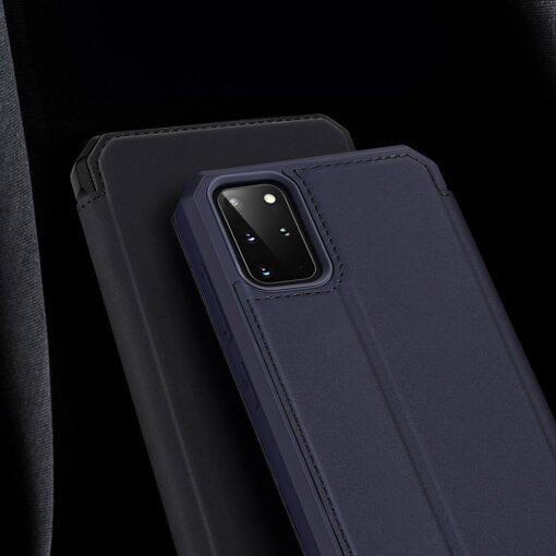 Samsung S20 Plus kunstnahast kaaned kaarditaskuga DUX DUCIS Skin Pro must 15