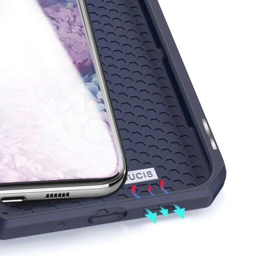 Samsung S20 Plus kunstnahast kaaned kaarditaskuga DUX DUCIS Skin Pro must 16
