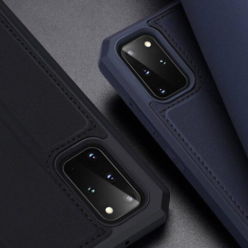 Samsung S20 Plus kunstnahast kaaned kaarditaskuga DUX DUCIS Skin Pro must 17