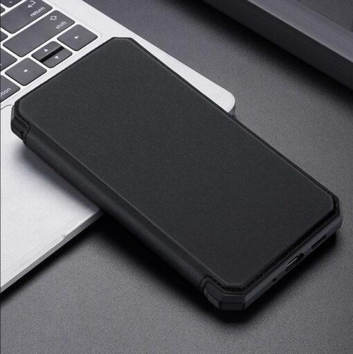 Samsung S20 Plus kunstnahast kaaned kaarditaskuga DUX DUCIS Skin Pro must 20
