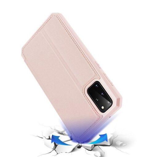 Samsung S20 Plus kunstnahast kaaned kaarditaskuga DUX DUCIS Skin Pro must 3