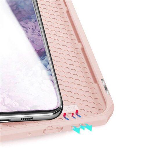 Samsung S20 Plus kunstnahast kaaned kaarditaskuga DUX DUCIS Skin Pro must 7