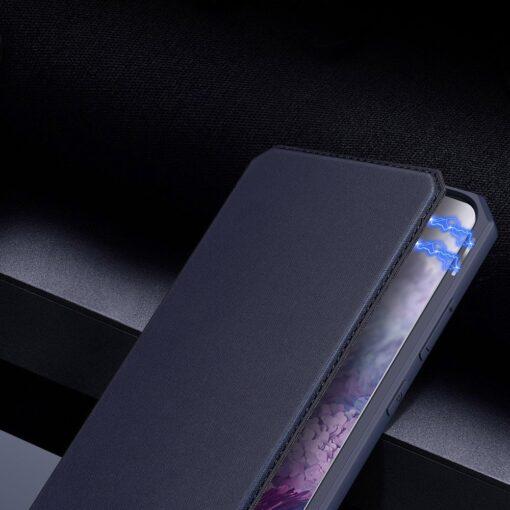 Samsung S20 Plus kunstnahast kaaned kaarditaskuga DUX DUCIS Skin Pro must 9