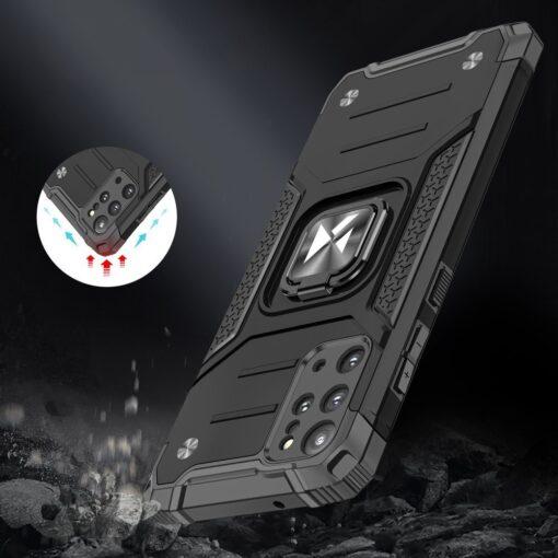 Samsung S20 Plus tugev umbris Ring Armor plastikust taguse ja silikoonist nurkadega must 6