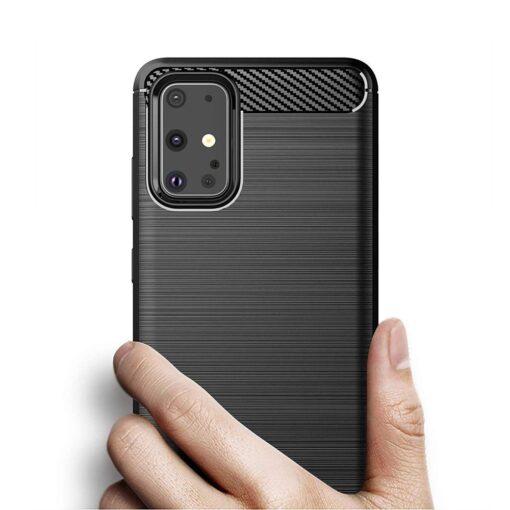 Samsung S20 Ultra umbris silikoonist Carbon must 2
