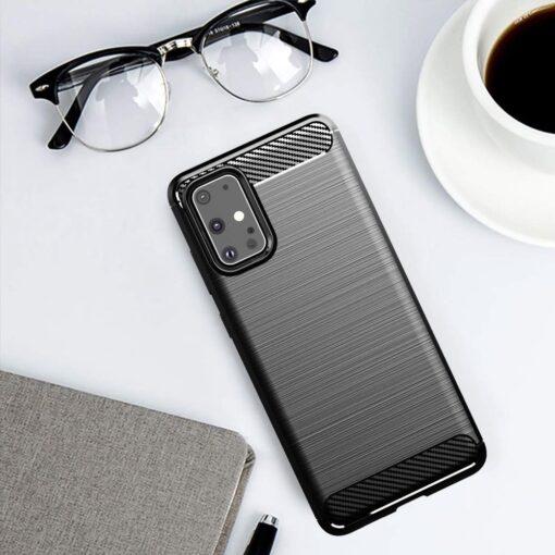 Samsung S20 Ultra umbris silikoonist Carbon must 3