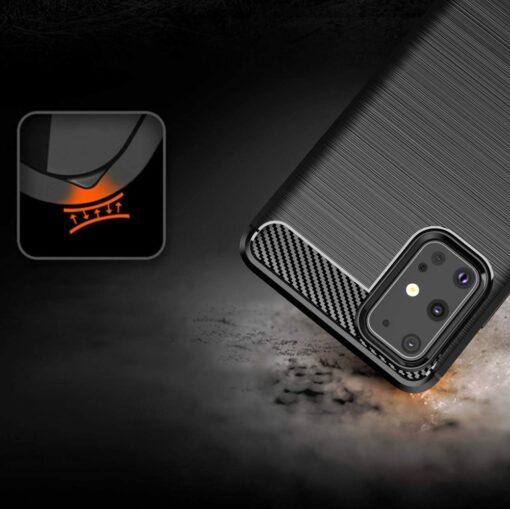 Samsung S20 Ultra umbris silikoonist Carbon must 6