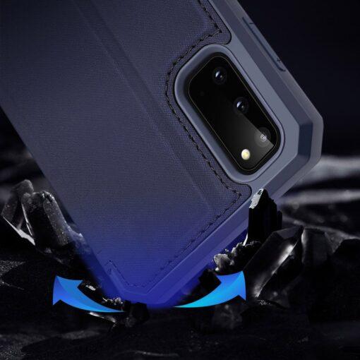 Samsung S20 kunstnahast kaaned kaarditaskuga DUX DUCIS Skin Pro must 10