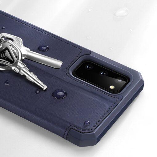 Samsung S20 kunstnahast kaaned kaarditaskuga DUX DUCIS Skin Pro must 14