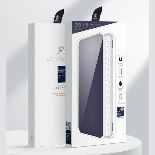 Samsung S20 kunstnahast kaaned kaarditaskuga DUX DUCIS Skin Pro must 20