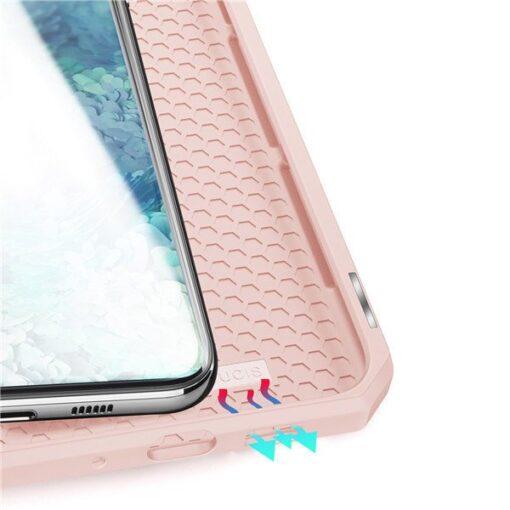 Samsung S20 kunstnahast kaaned kaarditaskuga DUX DUCIS Skin Pro must 7
