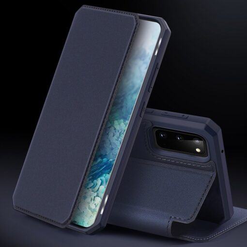Samsung S20 kunstnahast kaaned kaarditaskuga DUX DUCIS Skin Pro must 8