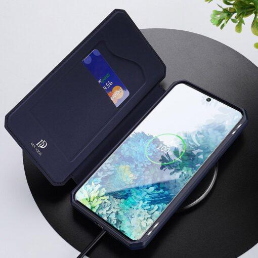 Samsung S20 kunstnahast kaaned kaarditaskuga DUX DUCIS Skin Pro roheline 17