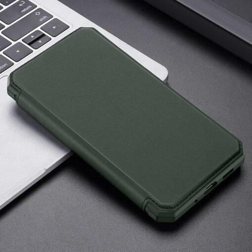 Samsung S20 kunstnahast kaaned kaarditaskuga DUX DUCIS Skin Pro roheline 18