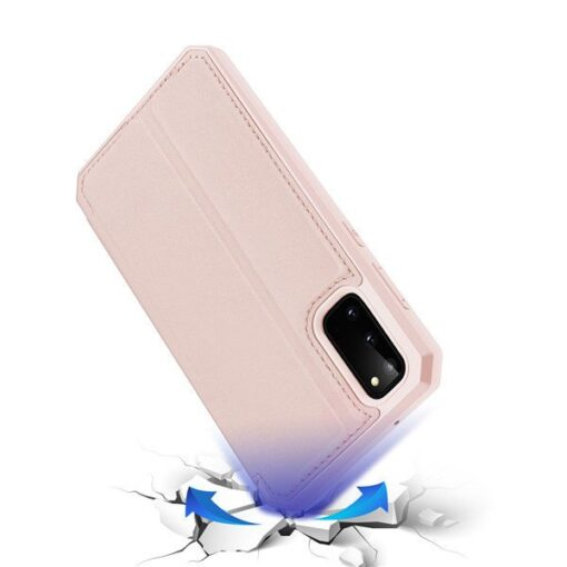 Samsung S20 kunstnahast kaaned kaarditaskuga DUX DUCIS Skin Pro roheline 3