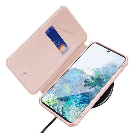 Samsung S20 kunstnahast kaaned kaarditaskuga DUX DUCIS Skin Pro roheline 6
