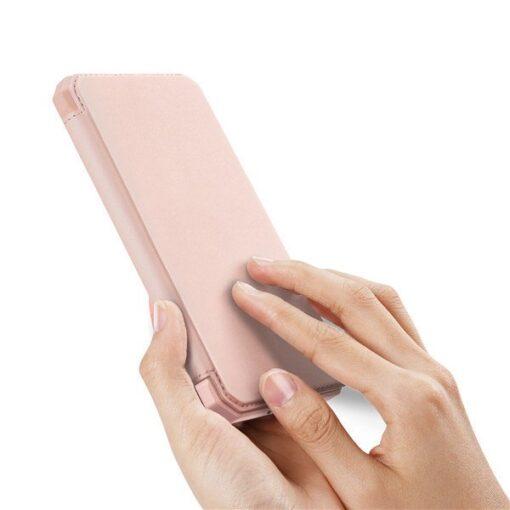 Samsung S20 kunstnahast kaaned kaarditaskuga DUX DUCIS Skin Pro roosa 1