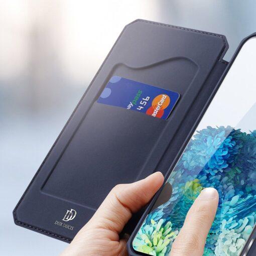 Samsung S20 kunstnahast kaaned kaarditaskuga DUX DUCIS Skin Pro roosa 12