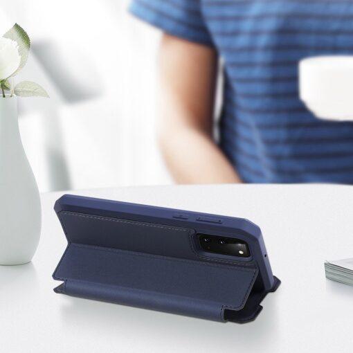 Samsung S20 kunstnahast kaaned kaarditaskuga DUX DUCIS Skin Pro roosa 13