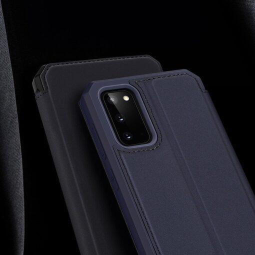 Samsung S20 kunstnahast kaaned kaarditaskuga DUX DUCIS Skin Pro roosa 15